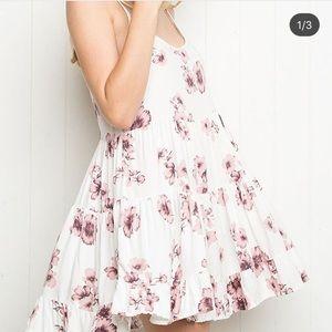 brandy Melville floral jada dress cherry blossom